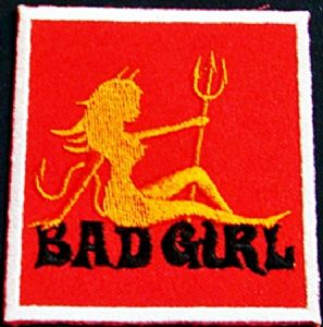 Bad Girl iron-on / sew-on cloth patch    (tg)